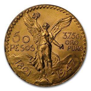 16Q: Gold Mexican 50 Pesos AGW 1.2057