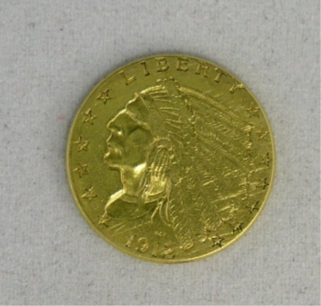 26: $2.50 US Gold Indian XF 1912