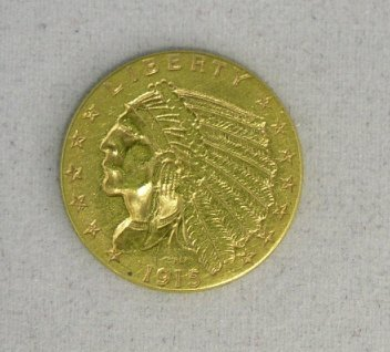 27: $2.50 US Gold Indian XF 1915