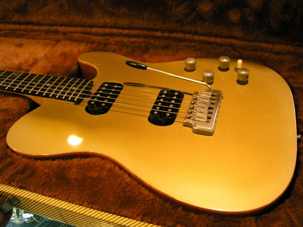 35A: Zion Gold Top Series Guitar with Case