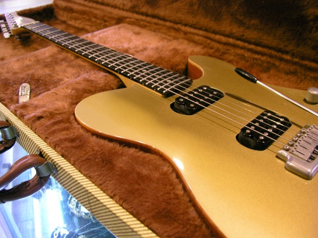35A: Zion Gold Top Series Guitar with Case - 2
