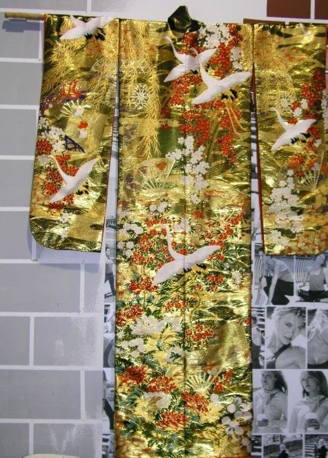 5EE: 1950/60s Japanese Silk Kimono Wedding Dress