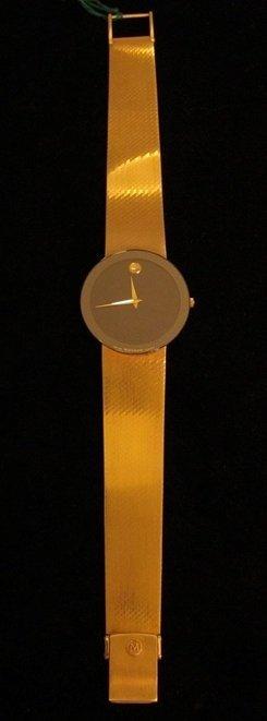 8: Movado 14k Gold Museum Mens Watch