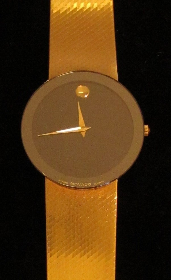 8: Movado 14k Gold Museum Mens Watch - 2