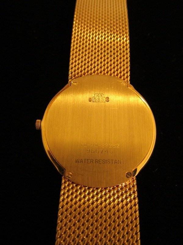 8: Movado 14k Gold Museum Mens Watch - 4