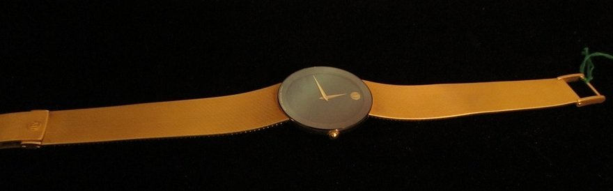 8: Movado 14k Gold Museum Mens Watch - 5