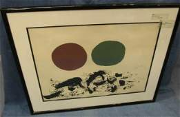 """36: Adolph Gottlieb """"Furry"""" Signed Limited Ed Litho"""