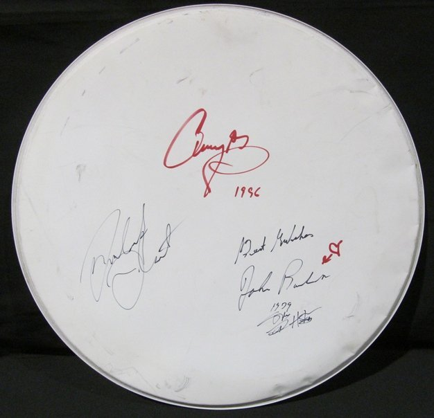 1A: Led Zeppelin Autographed Drum Head
