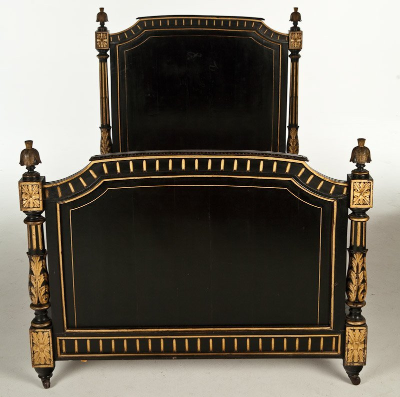 3: 19th C. Louix XVI Style Painted Bed