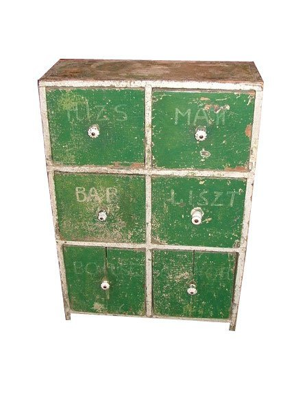7: 19th Century Country French Six-Drawer Painted Chest