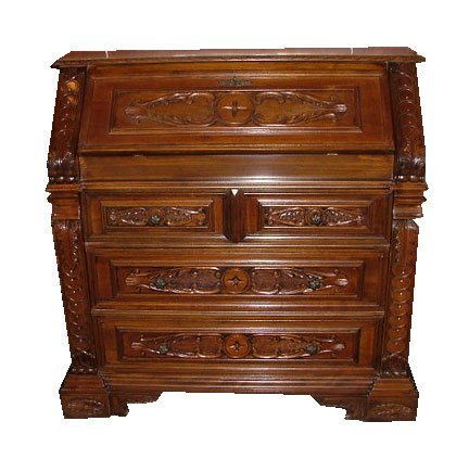 13: Louis XV Style Italian Renaissance Slant Front Desk
