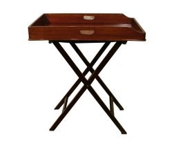 15: C. 1870 Victorian Butler's Tray on Stand