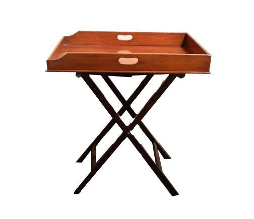 15: C. 1870 Victorian Butler's Tray on Stand - 2