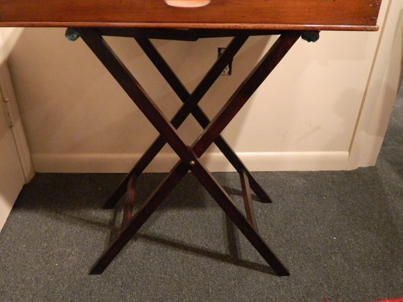 15: C. 1870 Victorian Butler's Tray on Stand - 3