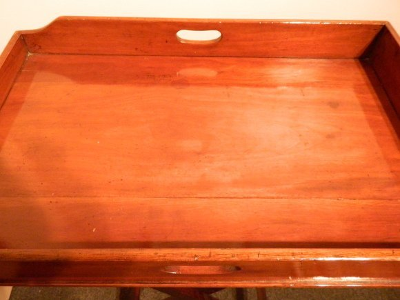 15: C. 1870 Victorian Butler's Tray on Stand - 4