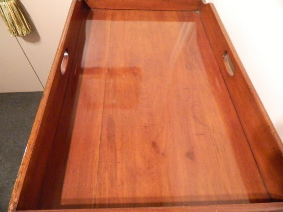 15: C. 1870 Victorian Butler's Tray on Stand - 5
