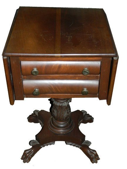 19: 19th C. American Work Table