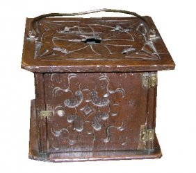 19th C. Oak Foot Warmer
