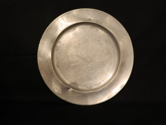 28: 18th C. Pewter Charger