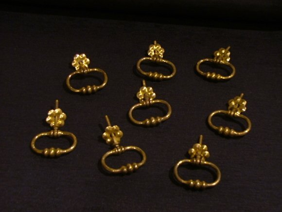 31: Set of Eight 19th Century Brass Pulls