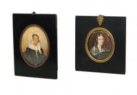 Pair Of 19th C. Miniature Portraits