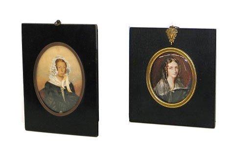 32: Pair of 19th C. Miniature Portraits