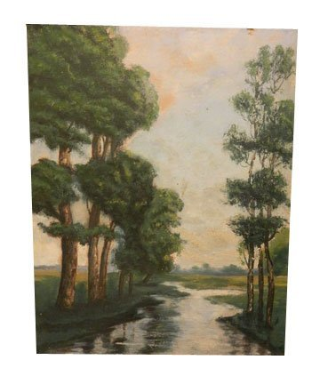 38: Pair of Oil on Board Paintings.  Signed Choral Coop