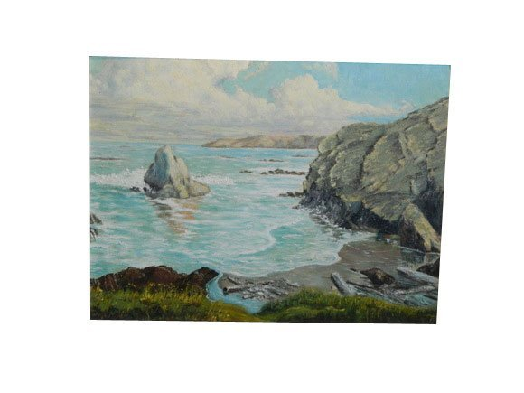 """40: Oil on Canvas """"Ocean Scape"""".  Unsigned"""