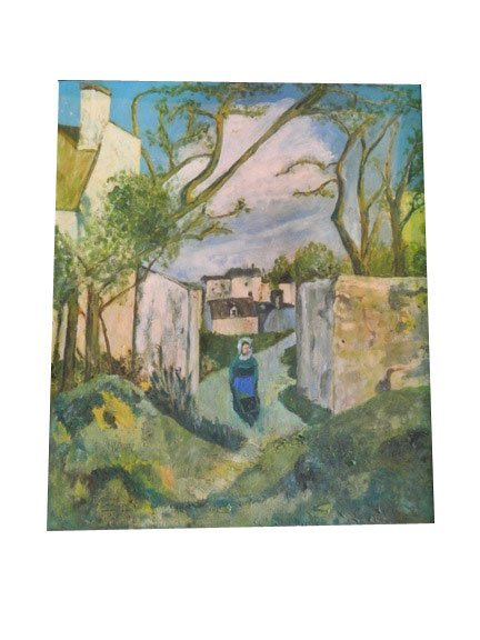 41: Oil on Canvas and Reverse Painting. Signed M. Stron