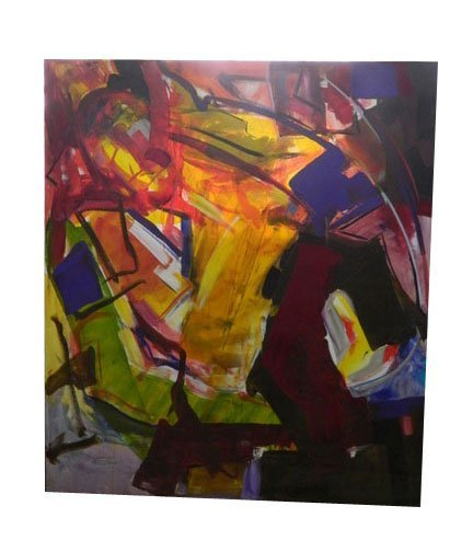 43: Medium Size Abstract Contemporary Oil On Canvas in