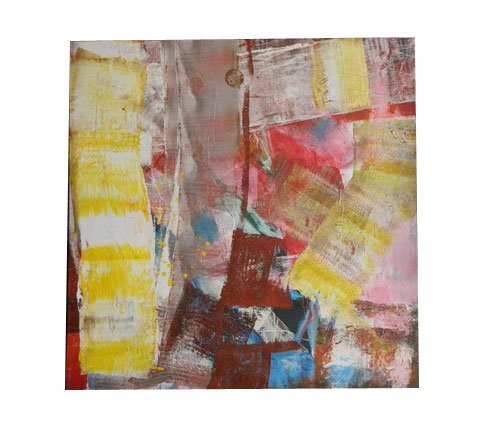 44: Small Size Abstract Contemporary Oil On Canvas in t
