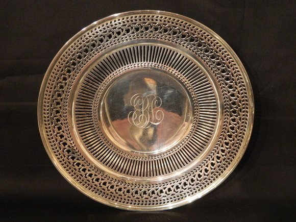 46: Elegant Sterling Silver Reticulated Plate