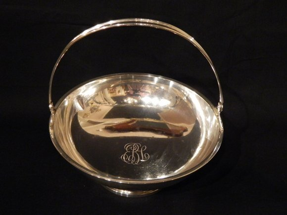 47: Sterling Silver Basket with Handle