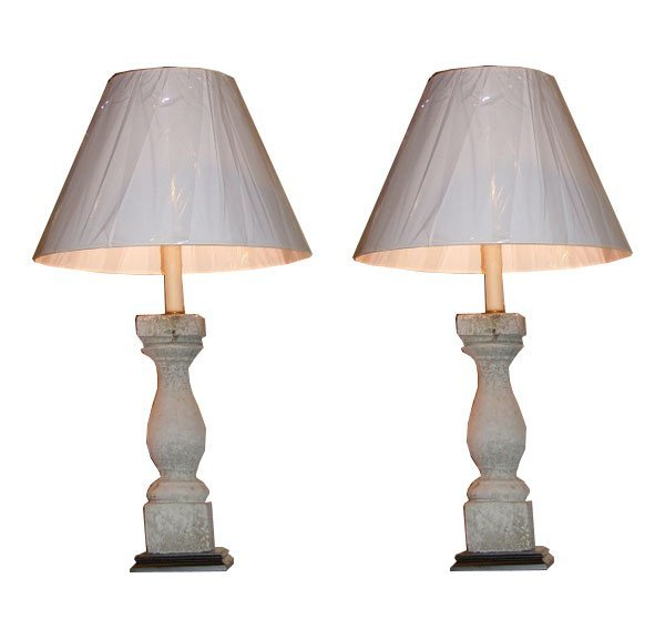 98: 19th C. Balustrades Adapted as Lamps