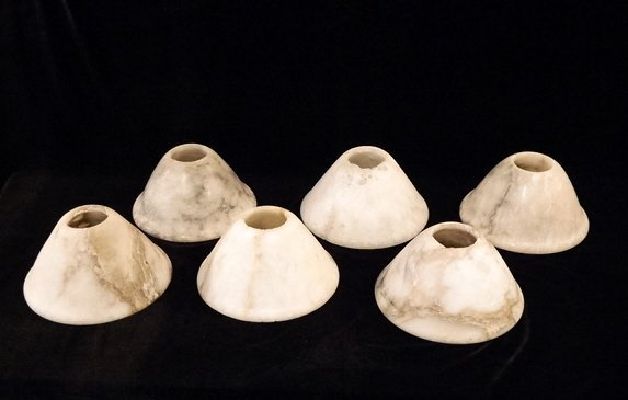 112: Set of Six 19th C. Alabaster Shades
