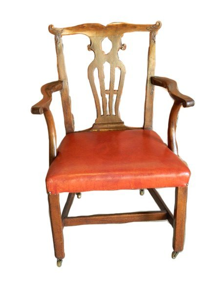 113: 18th Century George III Walnut Arm Chair