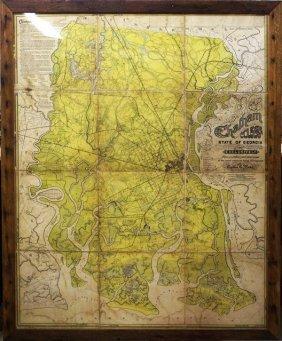 Circa 1875 Map Of Chatham County, Georgia