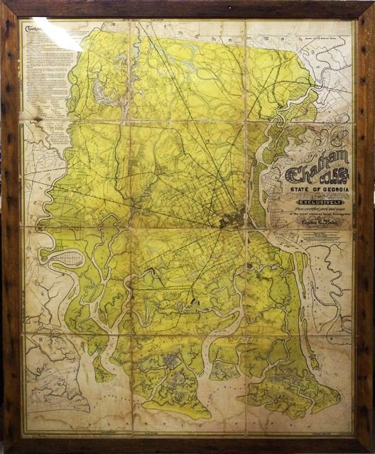 137: Circa 1875 Map of Chatham County, Georgia