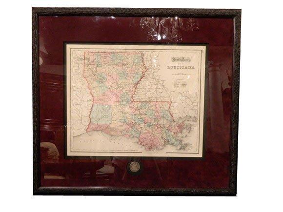 139: Gray's Atlas Map of Lousiana, circa 1873