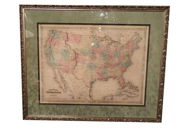 140: Johnson and Ward Atlas UNITED STATES Map, 1864 (Ci