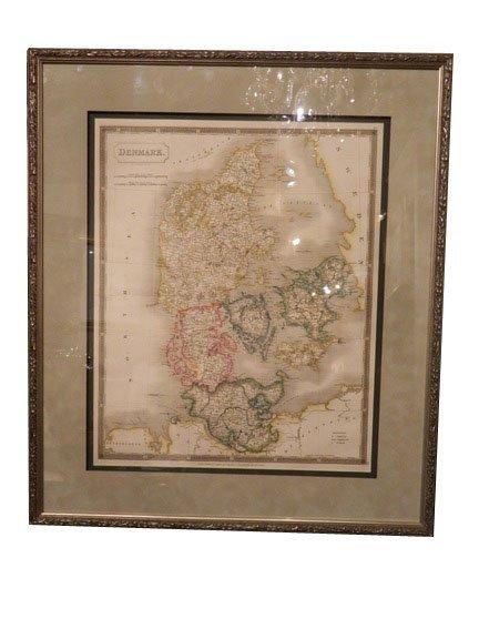 143: DENMARK Map, Sidney Hall, circa 1828