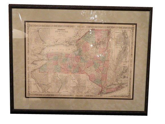 147: Johnson's NEW YORK Map, circa 1865