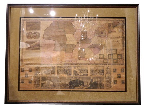 148: 1841 UNITED STATES, Antique Roll Map.  Own an impr