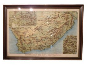 Antique �Bacon�s Birds-eye View Of South Africa� M