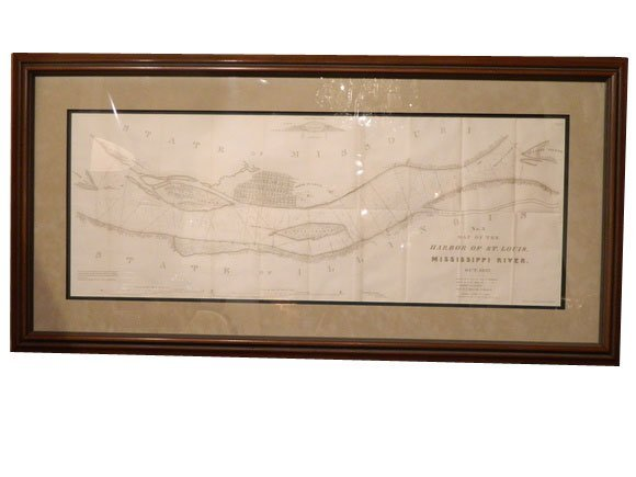 """151: Interesting """"No. 3 Map of the Harbor of St. Louis,"""