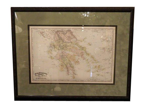 154: 1894 GREECE, Antique Rand McNally Map