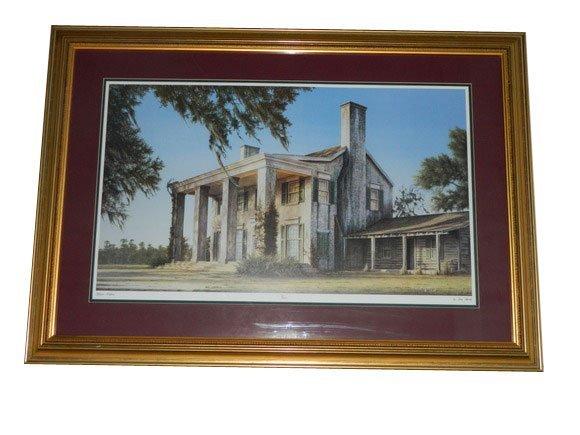 "155: Framed Print by Jim Booth ""Tara Mansion"", 1994.  S"