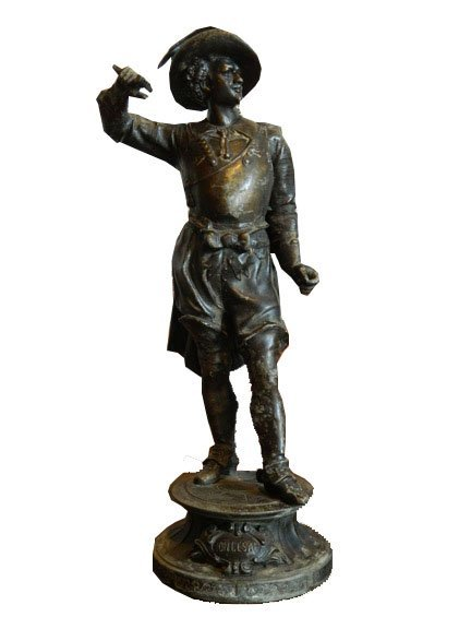 185: Late 19th Century Spelter Figure of Don Cesar