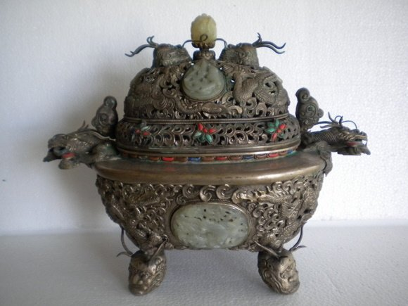 195: Amazing and Oversized Mongolian Silver and Bronze