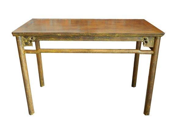 294: Late 18th Century Rare Tall Chinese Ji Chi Wood Ha